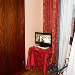 TV behind bathroom door