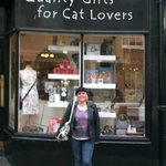 Me outside my favourite shop