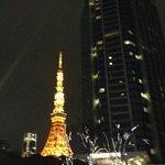 東京タワーとホテル
