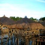 decaying bamboo huts