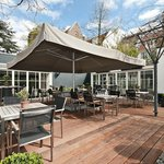 Espresso Garden during sunny long days of summer