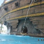 the pirate ship water slide