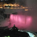 Canadian Falls at night