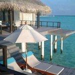 Residence villa master bedroom and deck