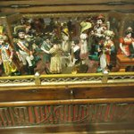 Ornate music box with automated figures on the top, Morris M