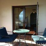 Ocean front room patio area