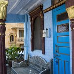 A real old blue charming haveli