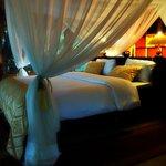Innenansicht eines luxus Zeltes