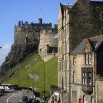 Apartment 16/4 building and Edinburgh Castle from Apartment 11/1