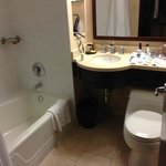 Bathroom was way too small