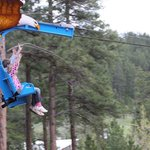 Flying on the Soaring Eagle Zipline at Rushmore Cave