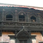 The Kumari House. The window where she appears.
