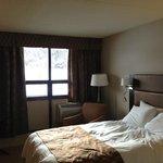 Sleeping area facing window
