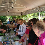 Tasting wines at the Cowichan Wine Festival