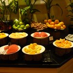Delicious fruit spread at the wonderful breakfast buffet