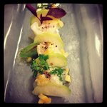 Halibut Crudo with Radish and EVOO