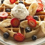 Waffles & Fresh Fruit