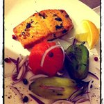 Salmon with grilled vegetable