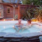 Guests enjoying hot tub
