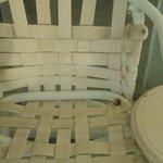 Una de las sillas en mi balcón