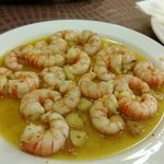 Shrimps with olive oil and garlic. Very tasty!