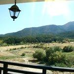 Pirin mountain is raising towards the right