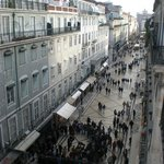 The view from the balcony of Rua Augusta