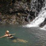 Swim at waterfall