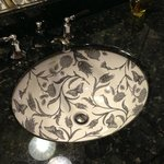 Beautiful sink in the Ladies' Room in the lobby