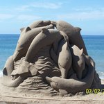 Sand sculpting on the Malecon