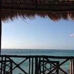 la vue depuis le restaurant Hispaniola