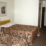 Large room, two double beds, refrig and coffee maker.