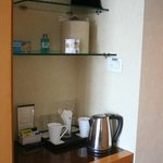tee and coffee area in room