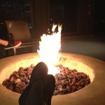 Evening visit to the firepit