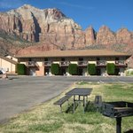 View of Zion Mountains from the Hotel grounds