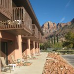 Private Patio or Balcony with stunning views of Zion Mountains