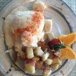 Yummy Seafood Benedict Breakfast