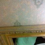 Dust buildup on mirror