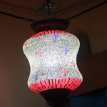 An Artiistically crafted glasswork (hanging lamp) typical Fi