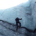 Ice climbing on the 'Blue Ice' Tour
