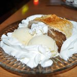 Apfelstrudel with scoop of Vanilla Ice Cream