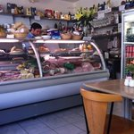 good range of cheeses and meats