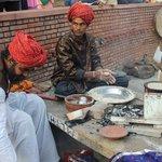 Preparing authentic Rajasthani food