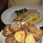 lovely grilled whiting with.rosemary potatoes.