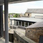 Overlooking the courtyard and dining room extension