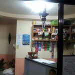 Front desk and snack store