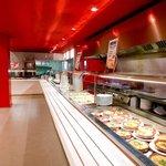 Tiendas, Self-Servie, Catefería y Restaurante