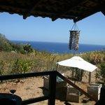 Unser Balkon mit Ausblick