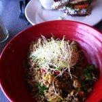 quinoa & chicken salad sand
