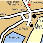 Within a walking distance of 2-3 minutes from rail/bus stations, harbour and terminal for the Is